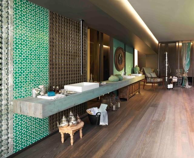 Modern Moroccan Bathroom Design moroccan bathroom - contemporary - bathroom - milan -gessi