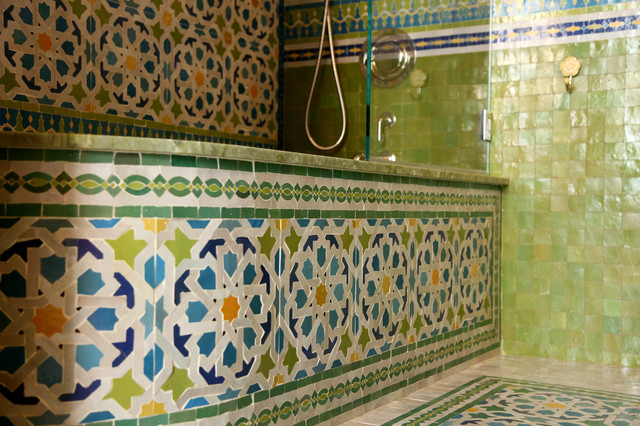 Moroccan Bathrooms Mediterranean Bathroom New York