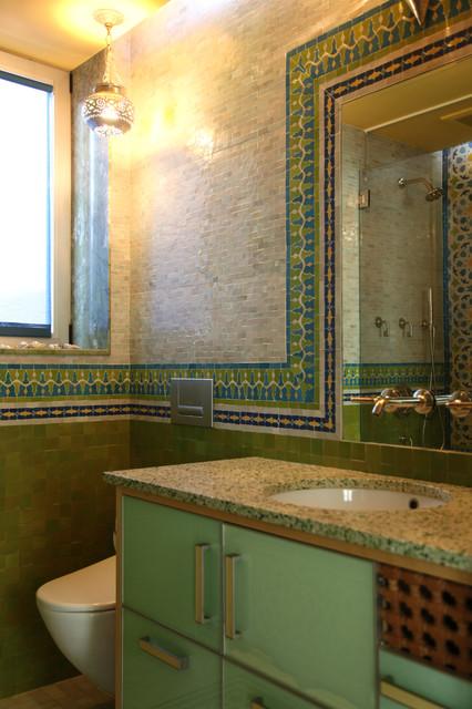 moroccan bathrooms mediterran badezimmer new york von lo chen design. Black Bedroom Furniture Sets. Home Design Ideas