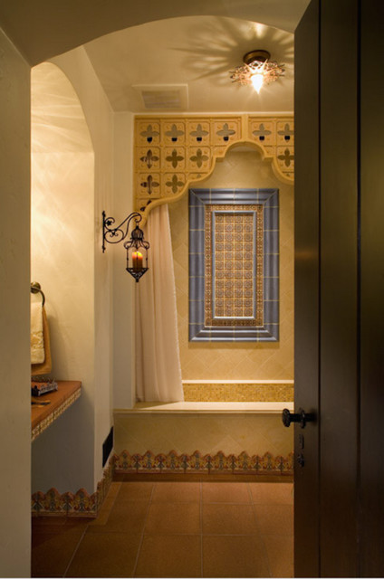Moroccan inspired bath for Moroccan inspired kitchen design