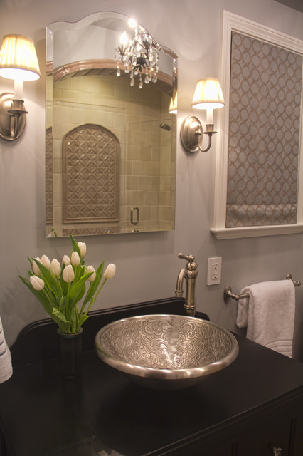 moroccan inspired bath. Black Bedroom Furniture Sets. Home Design Ideas