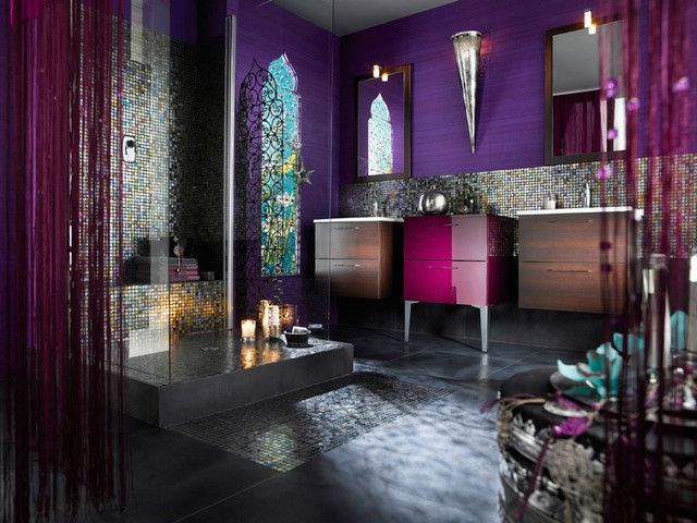 Moroccan Luxury Bathroom mediterranean bathroom