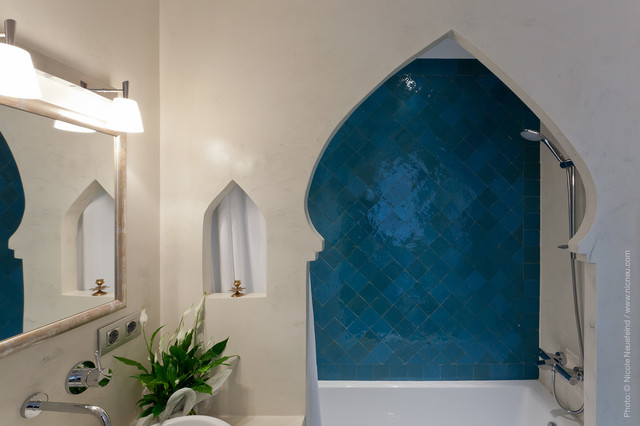 Moroccan Style Doorway To Shower Area Contemporary