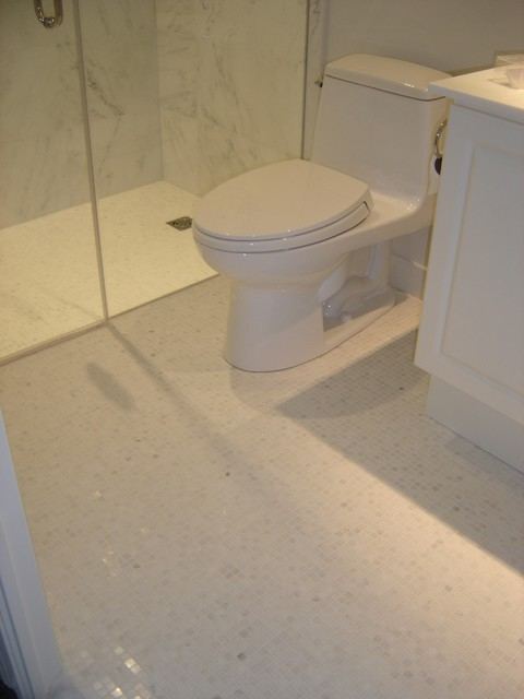 Mosaic Bathroom Floor Contemporary Bathroom Detroit By Cercan
