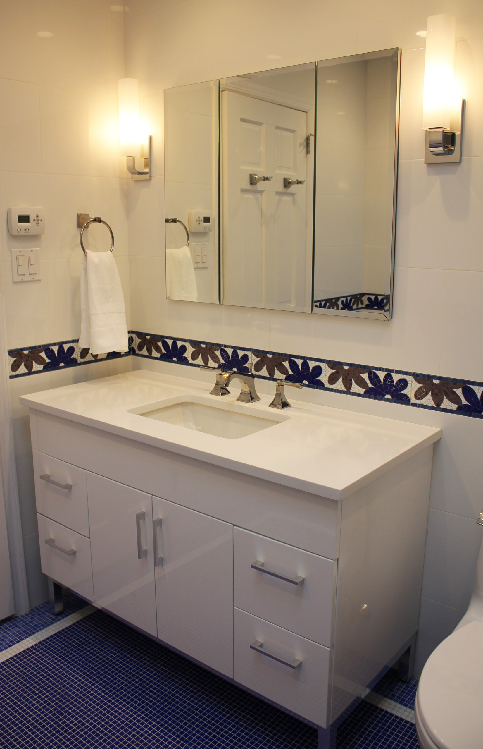 Mosaic Bathroom Lawrence, NY Home