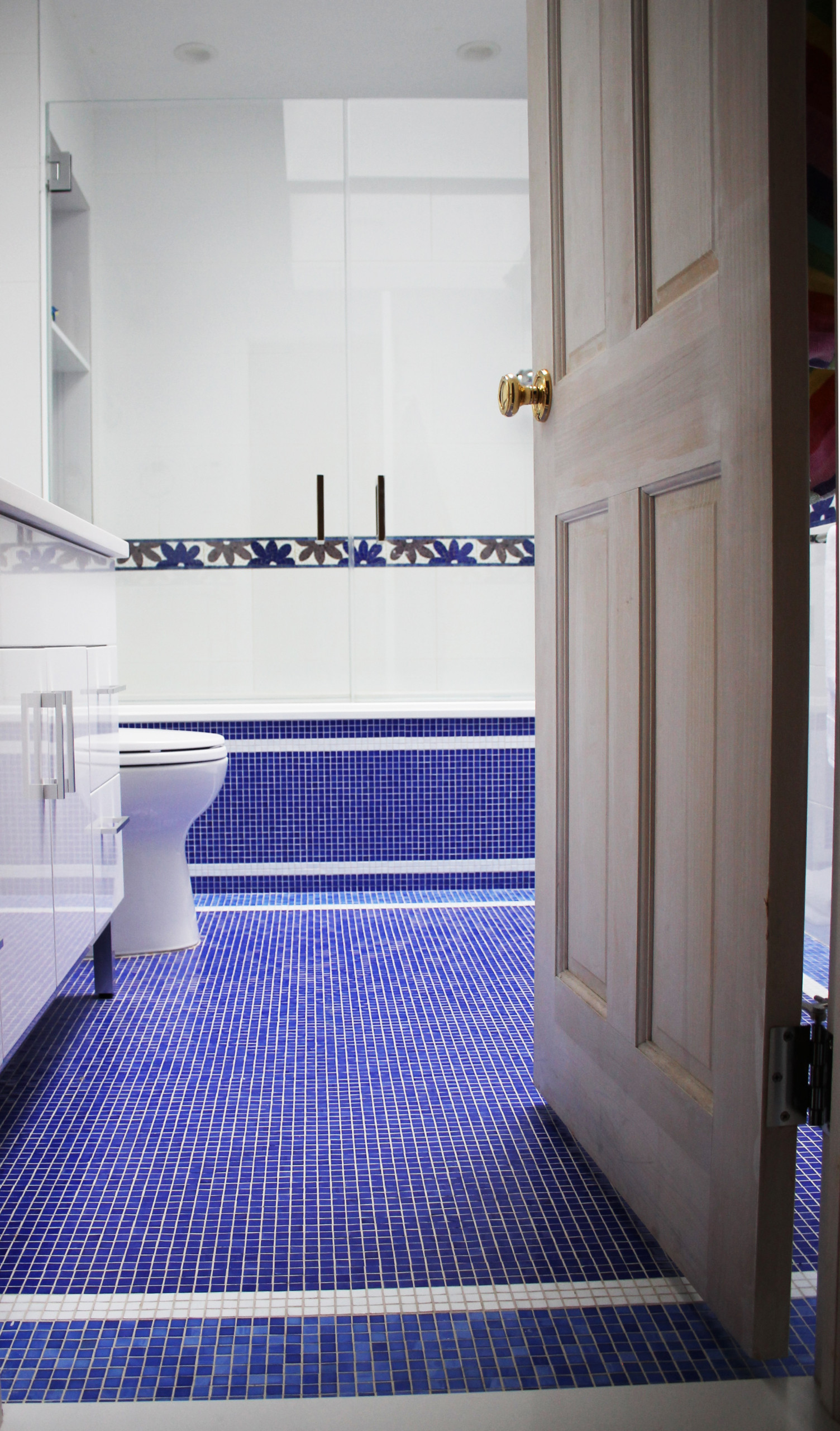 Mosaic Eclectic Bath Lawrence, NY Home