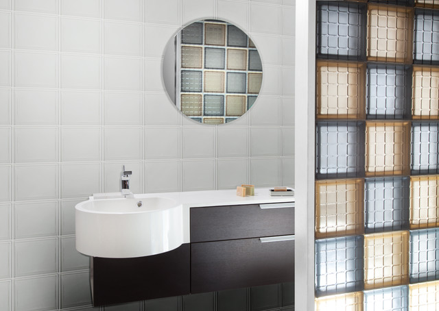 Mosaic glass tile block bathroom partition wall bathroom