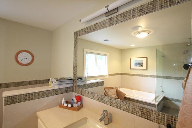 Mosaic Mirror traditional-bathroom