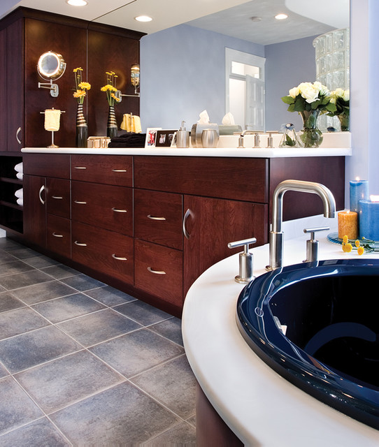 Mother Hubbard's Custom Cabinetry contemporary-bathroom