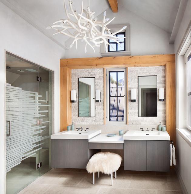 Mount barlow rustic bathroom denver by lkid for Brammer kitchen cabinets