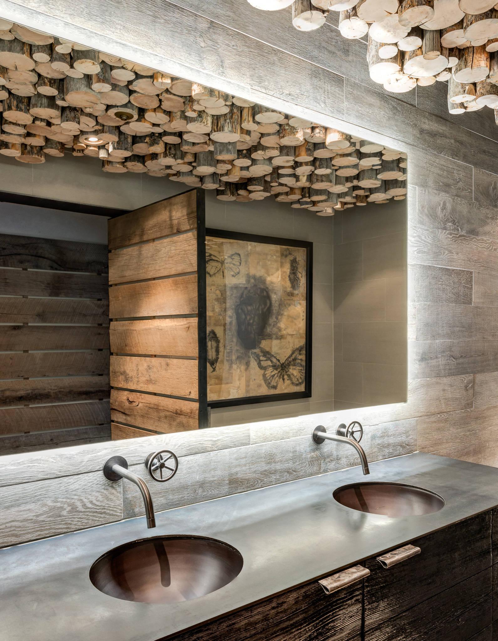 Rustic Mountain Cabin Bathroom Ideas Houzz