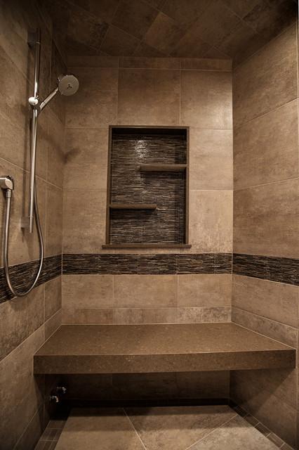 Mountain Home Shower Rustic Bathroom Denver By Yk