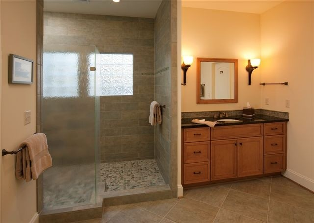 Mountain Lake traditional-bathroom
