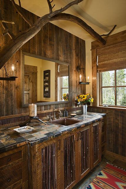 mountain magic home - rustic - bathroom - other metro