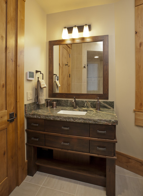 Mountain Modern Bathroom Contemporary Bathroom