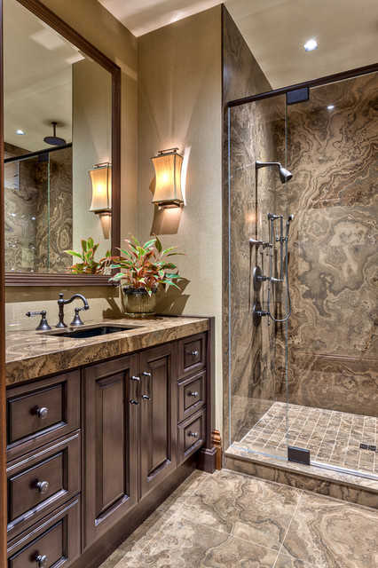 Mountain Resort Rustic Bathroom Other By Acm Design