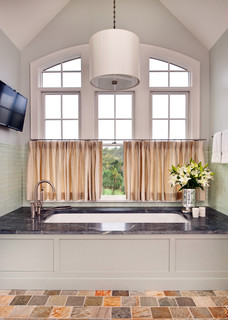 Mountain Road Residence Rustic Bathroom Richmond