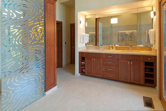 Multi-story remodel:  bath eclectic-bathroom