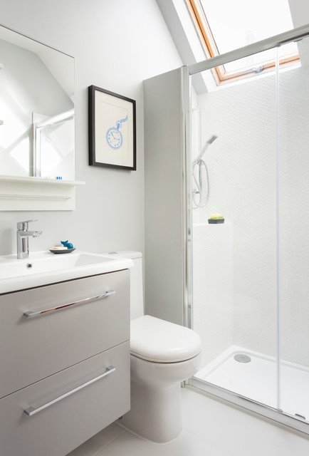Muswell hill project 1st floor new layout transitional for Bathroom design ltd