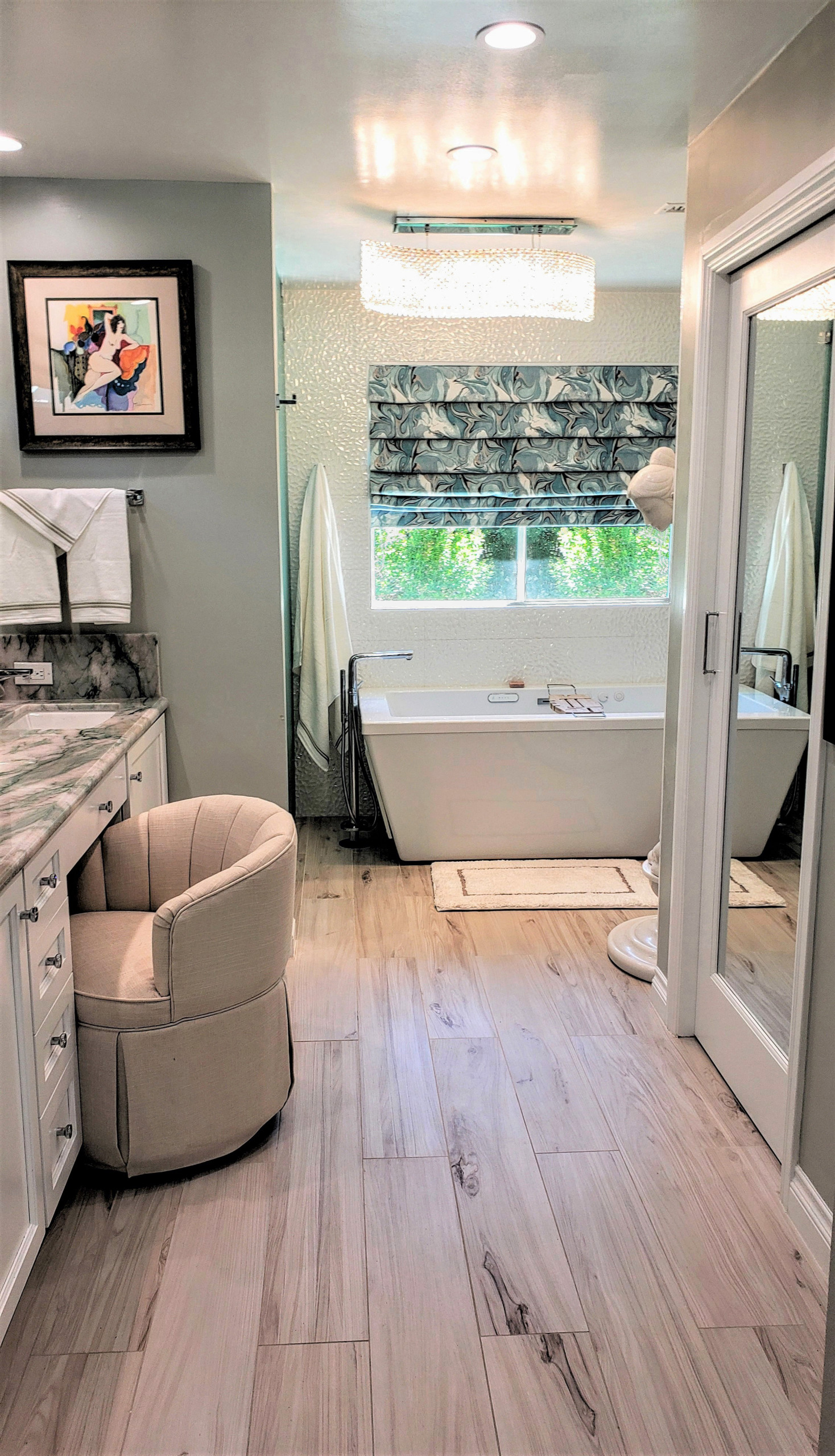 My Contemporary Bathroom Remodel Designed For A Client In Calabasas, Ca.