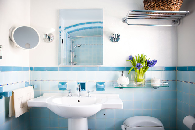 Cute Eclectic Bathroom by Theresa Fine