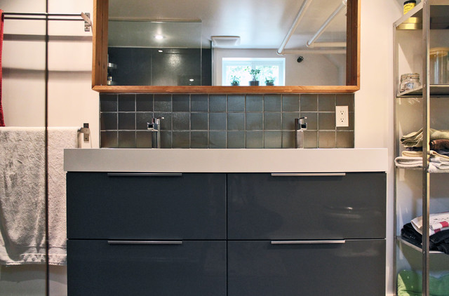My Houzz Color and Creativity Energize a Midcentury Home eclectic bathroom   My Houzz Color and. Godmorgon Bathroom