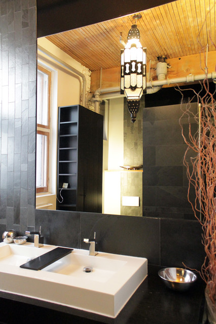 My Houzz: Converted loft goes modern for this young Montreal family contemporary-bathroom