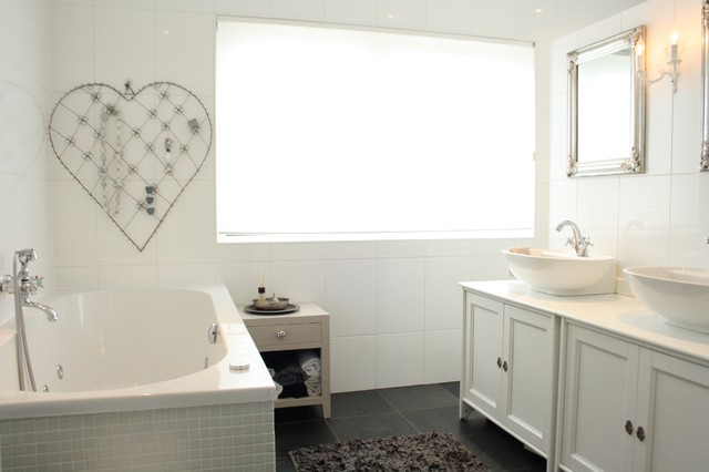 My Houzz: Country Chic family home in the Netherlands contemporary-bathroom