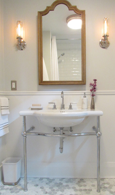 my houzz provence by the lake beach style bathroom