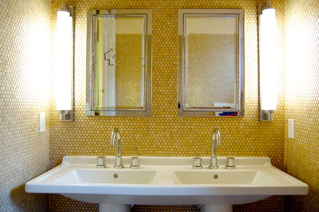 Bathroom Yellow Paint bathed in color: favorite yellows and golds for the bath