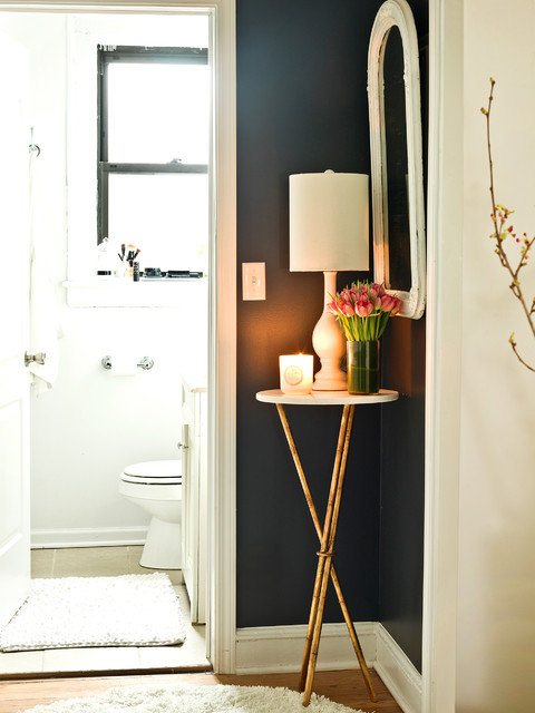 My Houzz: Pretty Meets Practical in a 1920s Walk-Up eclectic-bathroom