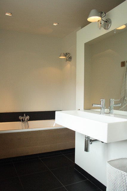 My Houzz Sophisticated Family Home Breathes Scandinavian Style Contemporary Bathroom