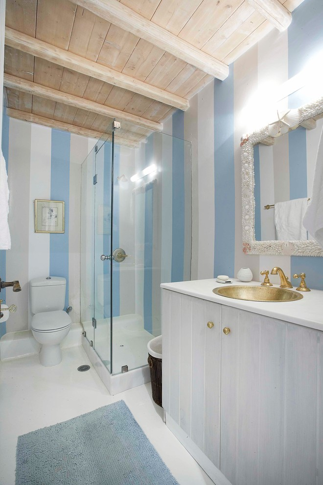 Inspiration for a mediterranean bathroom remodel in Other