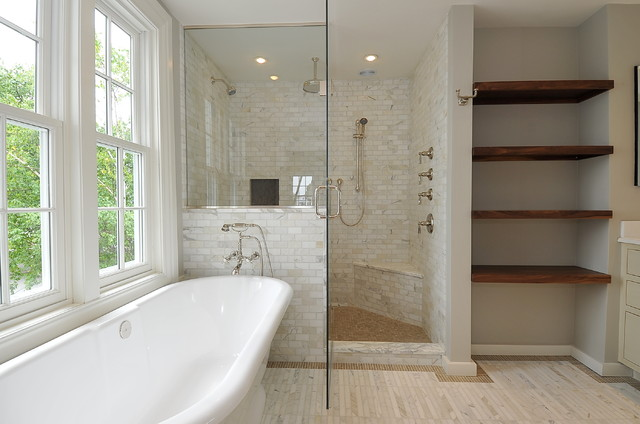 Mystic Waterfront contemporary-bathroom