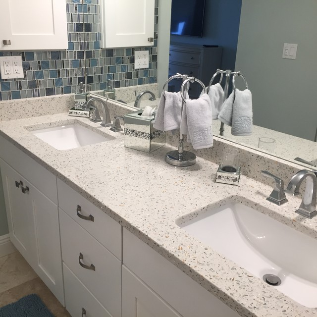 N end fort myers beach condo beach style bathroom for Bath remodel fort myers