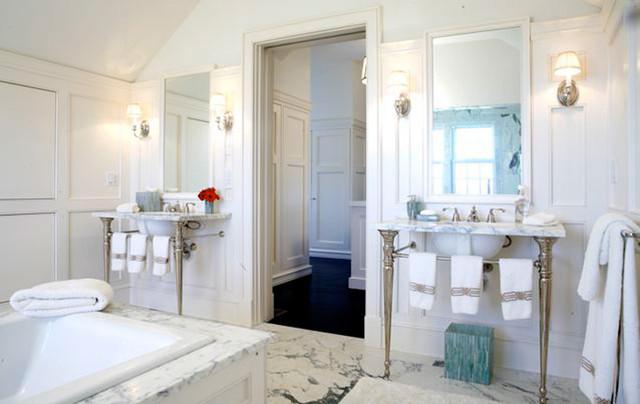 Nantucket island massachusetts beach style bathroom for Nantucket style bathrooms