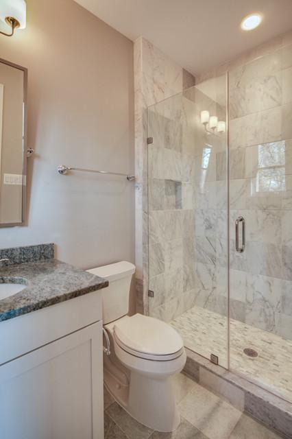 Nantucket-style custom home traditional-bathroom