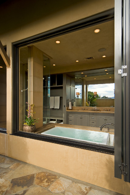 Napa farmhouse contemporary bathroom san francisco for Bath remodel napa ca