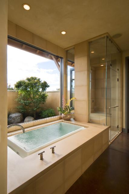 Napa Farmhouse contemporary-bathroom