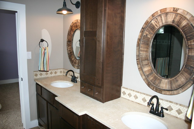 Napa valley inspired modern farmhouse bathroom austin for Bath remodel napa ca