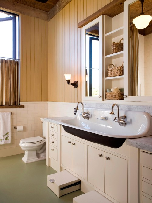 Double sinks for a 61 vanity