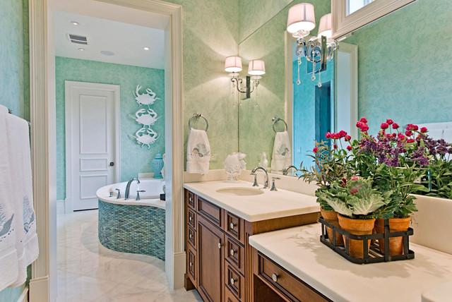 Tropical Bathroom Tile Ideas : Naples design project tropical bathroom other metro
