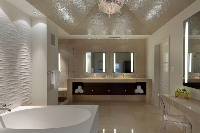 Innovative When Discussing A Possible Great Place To Live To Experience The True Local Lifestyle, The Homes For Sale In Bayfront Naples Florida  Etched Glass Mirrors, Cherry Wood Vanities, Builtin Plasma TV &amp Huge Walkin Shower Guest Bath