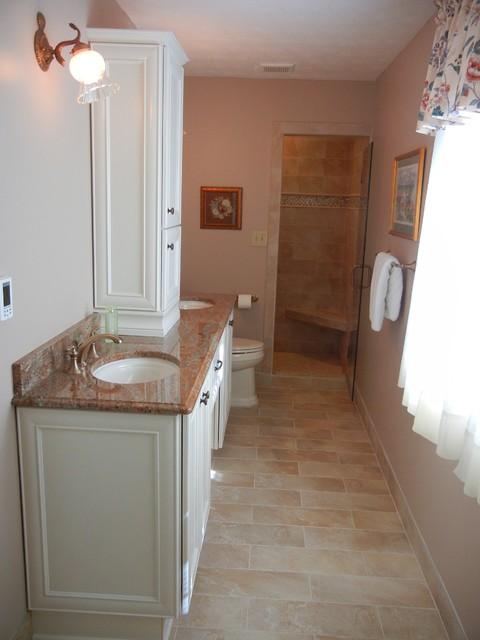 Narrow Master Bathroom Remodel Marietta Ga 30062 Traditional Bathroom Atlanta By Renovation Associates Inc Houzz Uk