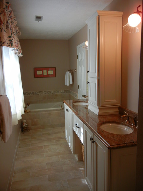 Narrow Master Bathroom Remodel Marietta Ga 30062 Traditional Bathroom Atlanta By