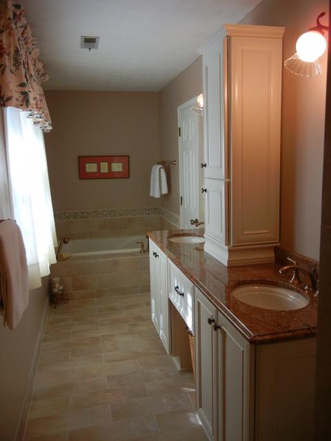 Narrow Master Bathroom Remodel Marietta Ga 30062 American Traditional Bathroom Atlanta By Renovation Associates Inc Houzz