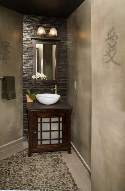 Natural Elements asian bathroom