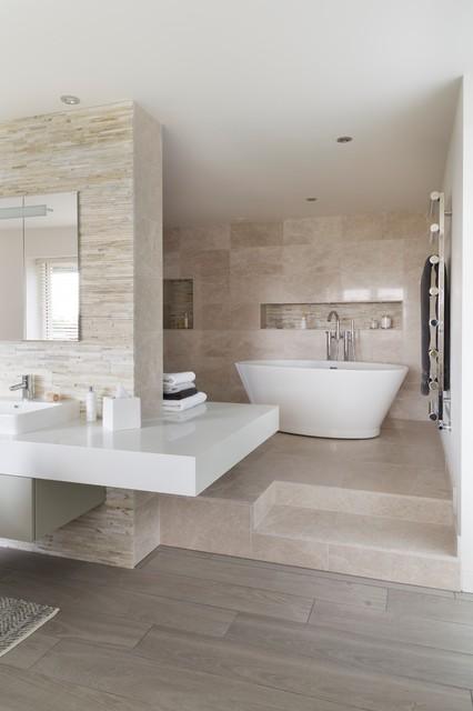 Natural Luxury Ensuite Modern Bathroom South West