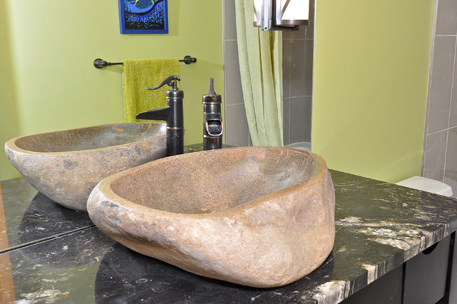 Natural River Rock Boulder Sink Contemporary Bathroom Other By Eden Bath Vessel Sinks