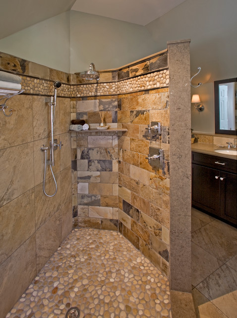 Natural Simplicity Master Bath Remodel: Chester Springs, PA eclectic-bathroom